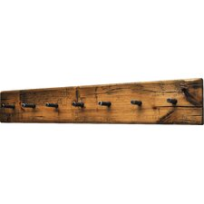 Rustic Plank Wall Mounted Coat Rack