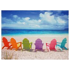 'Peekskill Beach Chairs' Photographic Print on Wrapped Canvas