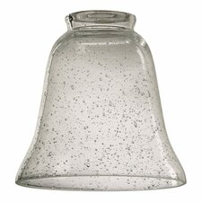 "Clear Seeded 5"" Glass Bell Pendant Shade"
