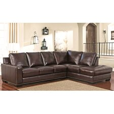 Jill Top Grain Leather Sectional by Darby Home Co