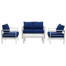 Castagna 4 Piece Deep Seating Group with Cushion