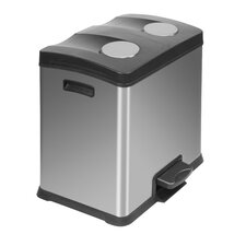 Rejoice Recycle 24L Step-On Stainless Steel Bin