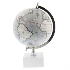 World Map Ceramic Globe