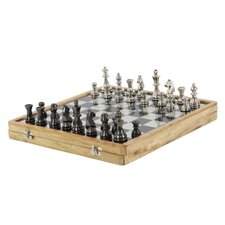 Luminous Aluminum Wood Chess Set
