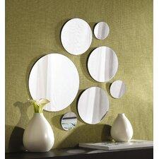 7 Piece Round Glass Mirror Set