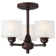Beckemeyer 3-Light Semi-Flush Mount