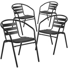 Corrales Stacking Dining Arm Chair (Set of 4)