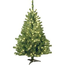 4' Green Artificial Christmas Tree with 100 Clear Lights