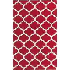 Blaisdell Red Geometric Stella Area Rug