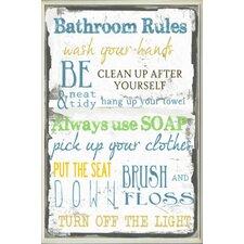 'Bathroom Tall Rectangle' Textual Art Wall Plaque