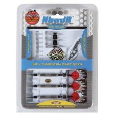 Nodor® 15 Piece Professional 80% Tungsten Dart Set in SideRider™ Case
