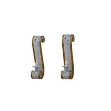 2-tlg. Wandkerzenhalter-Set