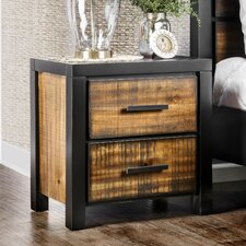 Topher 2 Drawer Nightstand by 17 Stories
