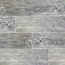 "Sonoma Driftwood 6"" x 24"" Ceramic Wood Look Tile in Gray"