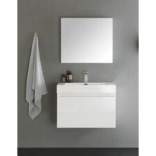 "Senza 30"" Mezzo Single Wall Mounted Modern Bathroom Vanity with Medicine Cabinet"