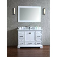 Lucia 48 Single Sink Bathroom Vanity Set with Mirror by Darby Home Co