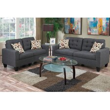 quick view amia 2 piece sofa and loveseat set - Blue Living Room Set