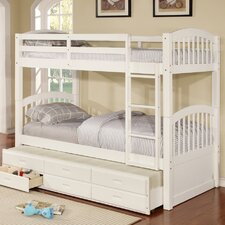Kamryn Twin Bunk Bed with Trundle and Storage