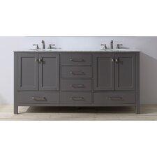 Ankney 72 Double Sink Bathroom Vanity by Brayden Studio