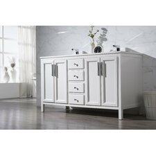 Carpentier 59 Double Sink Bathroom Vanity Set by Brayden Studio