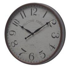 "Round Iron 20"" Wall Clock"