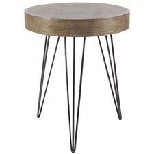 Kori Metal Wood End Table by Union Rustic