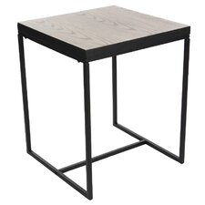 Cifuentes Metal Wood End Table