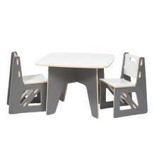 Halle Kids 3 Piece Square Table & Chair Set