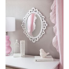 Oval Wood Lace Wall Mirror