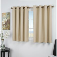 Sallie Solid Blackout Thermal Grommet Single Curtain Panel