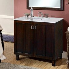 "Lehigh 36"" Single Sink Bathroom Vanity Set"