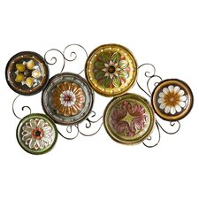 Scattered Italian Plates Wall Décor