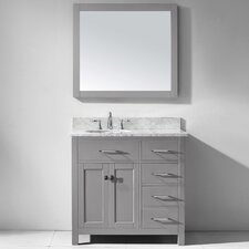 Caroline Parkway 36 Single Bathroom Vanity Set with Mirror by Virtu USA