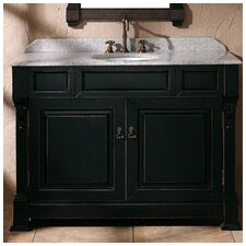 Bedrock 48 Single Antique Black Bathroom Vanity Set by Darby Home Co