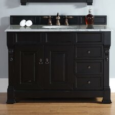 Bedrock 48 Single Antique Black Bathroom Vanity Set with Drawers by Darby Home Co