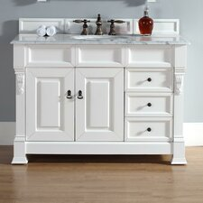 Bedrock 48 Single Cottage White Bathroom Vanity Set with Drawers by Darby Home Co