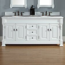 Bedrock 72 Double Cottage White Bathroom Vanity Set with Drawers by Darby Home Co