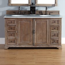 Belhaven 60 Double Driftwood Bathroom Vanity Set by Darby Home Co