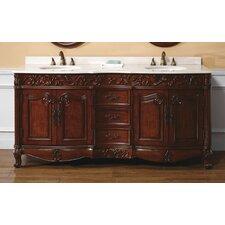 Vendome 72 Double Cherry Bathroom Vanity Set by Astoria Grand