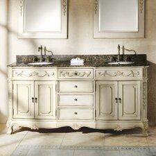 Vendome 72 Double White Bathroom Vanity Set by Astoria Grand
