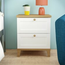 Alissa 2 Drawer Bedside Table