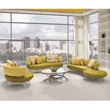 Bosco 4 Piece Modern Top Grain Leather Sofa Set  by Brayden Studio®