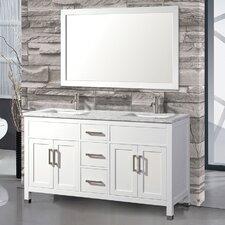 Denault 60 Double Bathroom Vanity Set with Mirror by Brayden Studio