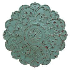 Sea Foam Metal Medallion Wall Décor