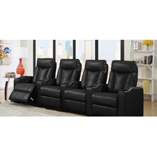 Home Theater Leather Recliner (Row of 4)