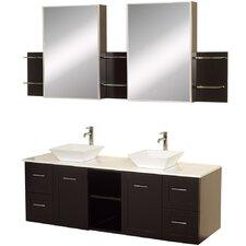 Avara 60 Double Bathroom Vanity Set with Medicine Cabinet by Wyndham Collection