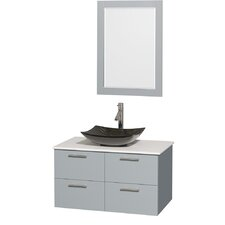 Amare 36 Single Bathroom Vanity Set with Mirror by Wyndham Collection