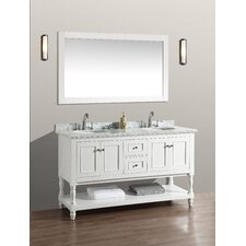Amie 60 Double Bathroom Vanity Set with Mirror by Darby Home Co