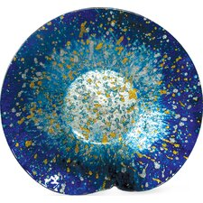 Round Ocean Glass Plate