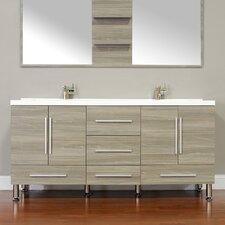 Waldwick 67 Double Modern Bathroom Vanity Set by Wade Logan